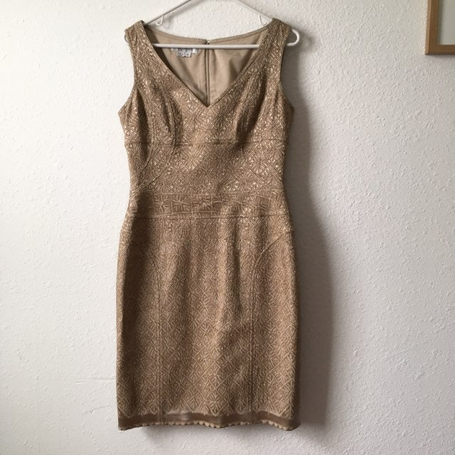 Kay Unger Beige Dress sz 10