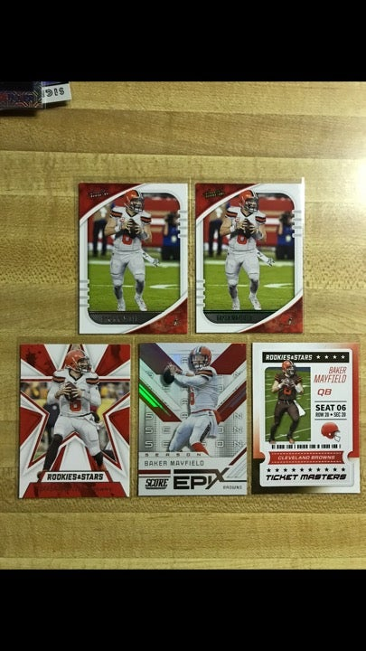 2020 Baker Mayfield cards 5 total