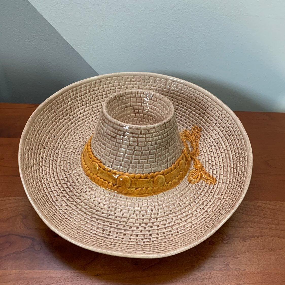 Vintage Cowboy Hat Chip/Dip Bowl