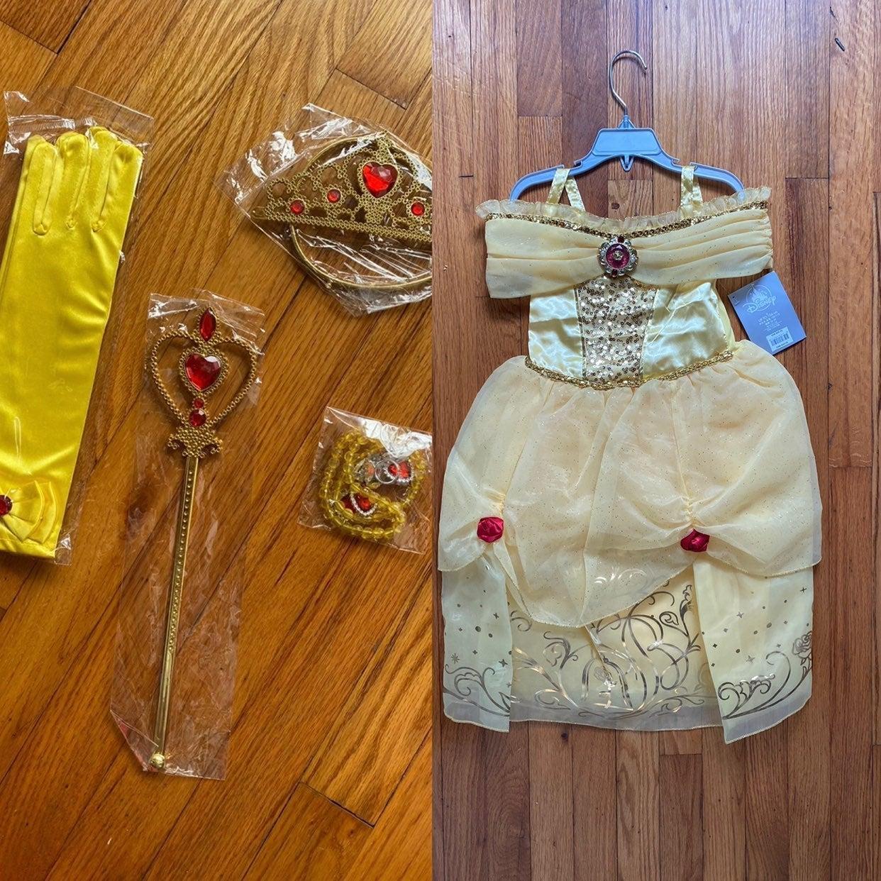 Princess Belle Dress & Accessories