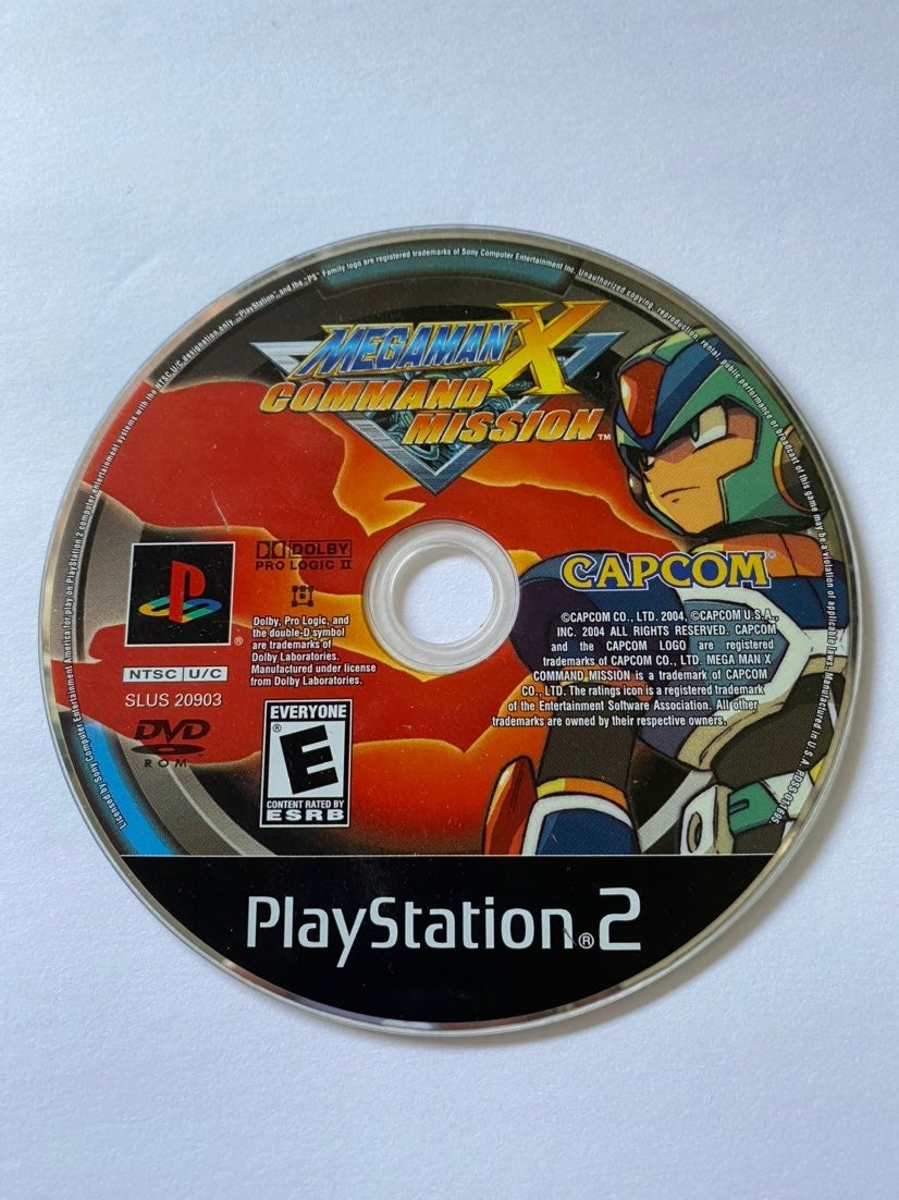 Megaman X: Command Mission PS2 Disc Only