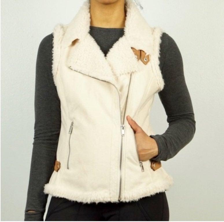 Altar'd State faux Shearling moto vest