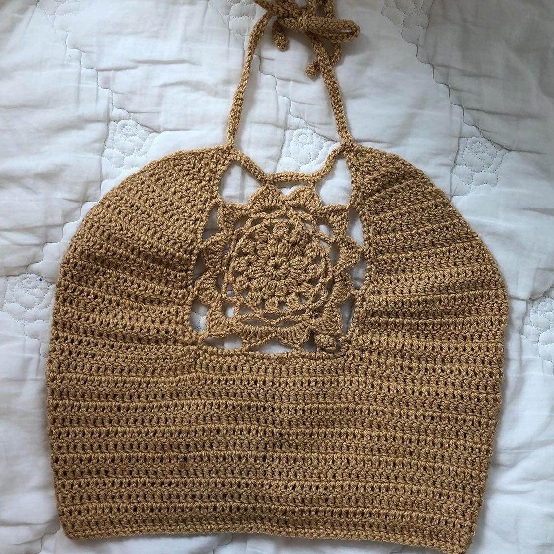 Handmade crochet halter top