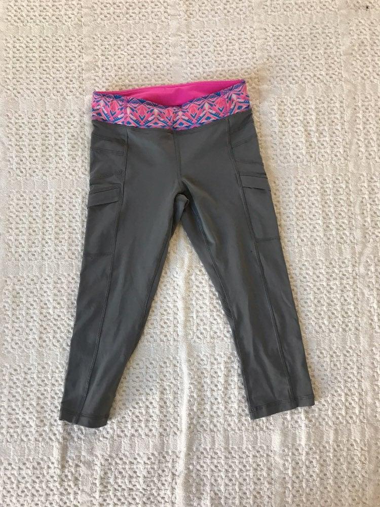 grey ivivva cropped leggings