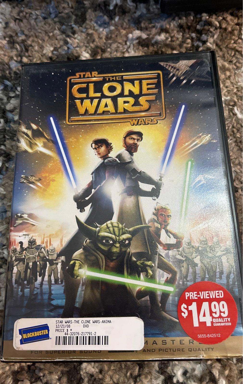 The clone wars dvd