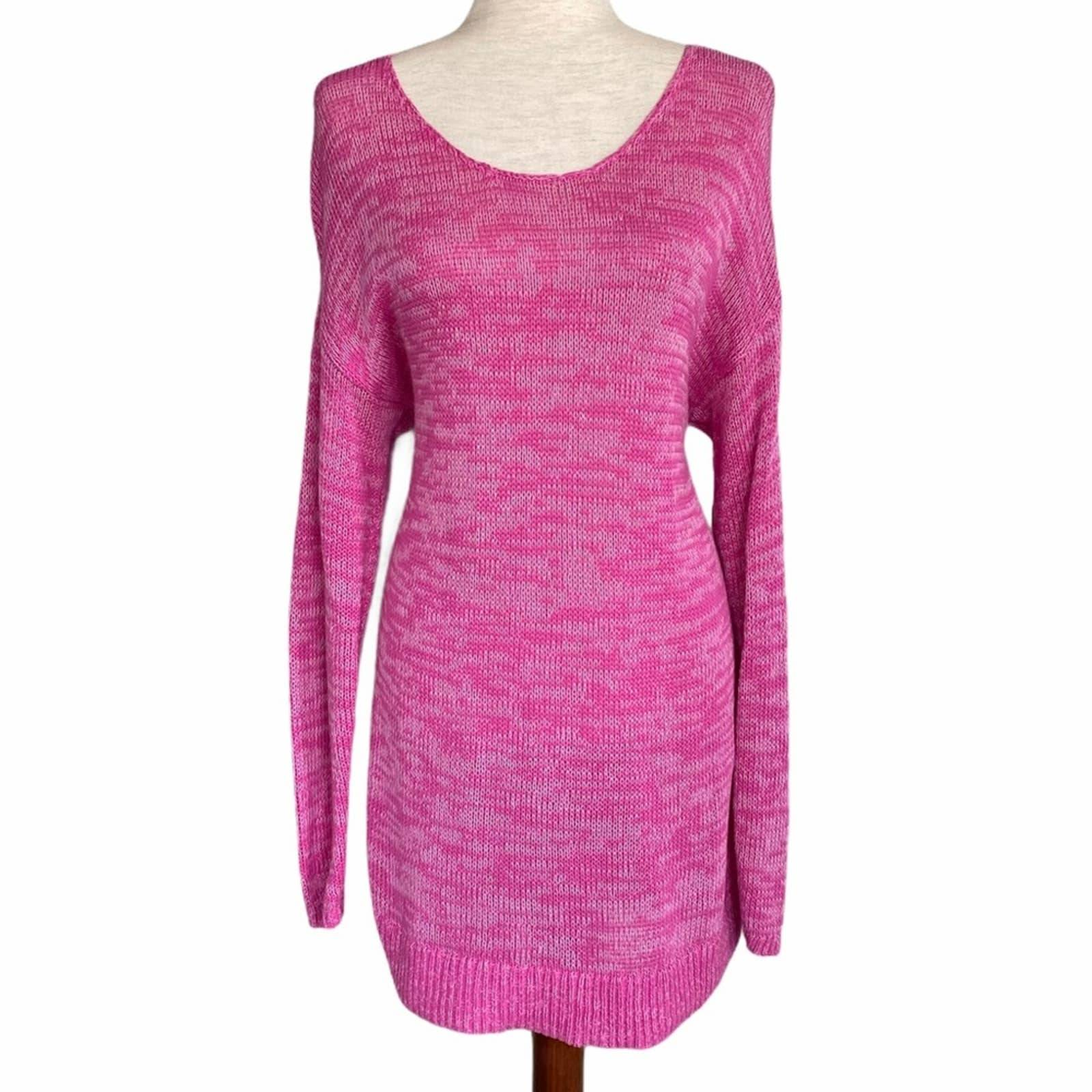 GAP Knit Scoop Neck Tunic XL Pink