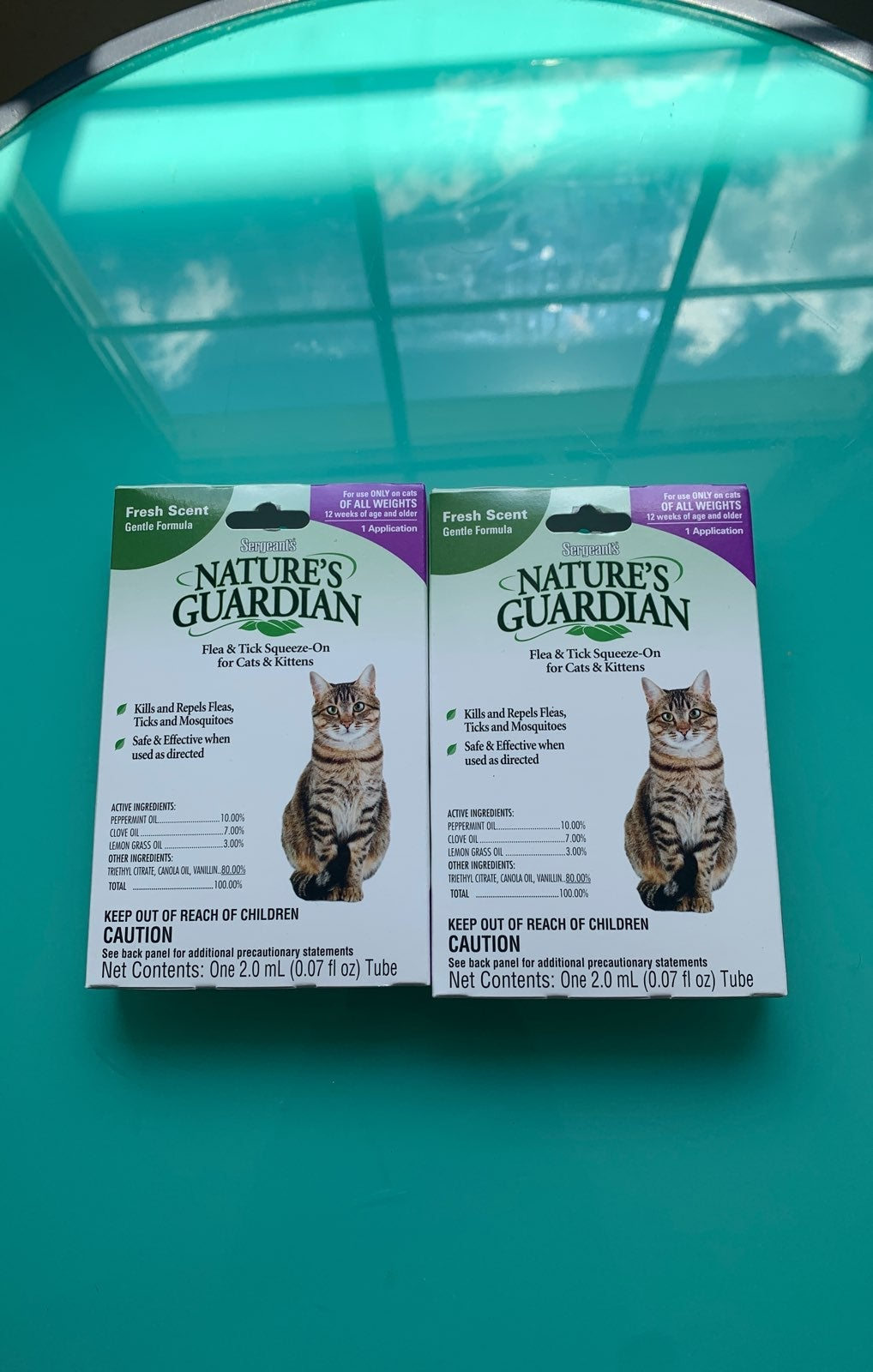 2 Pack Flea Treatment Tick Sergeants Nat