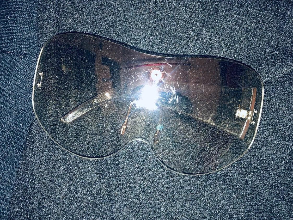 Womens transparent wrap around  sun glas