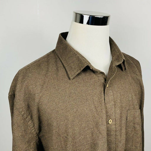 UNTUCKit 3XL Flannel Shirt Brown Cotton