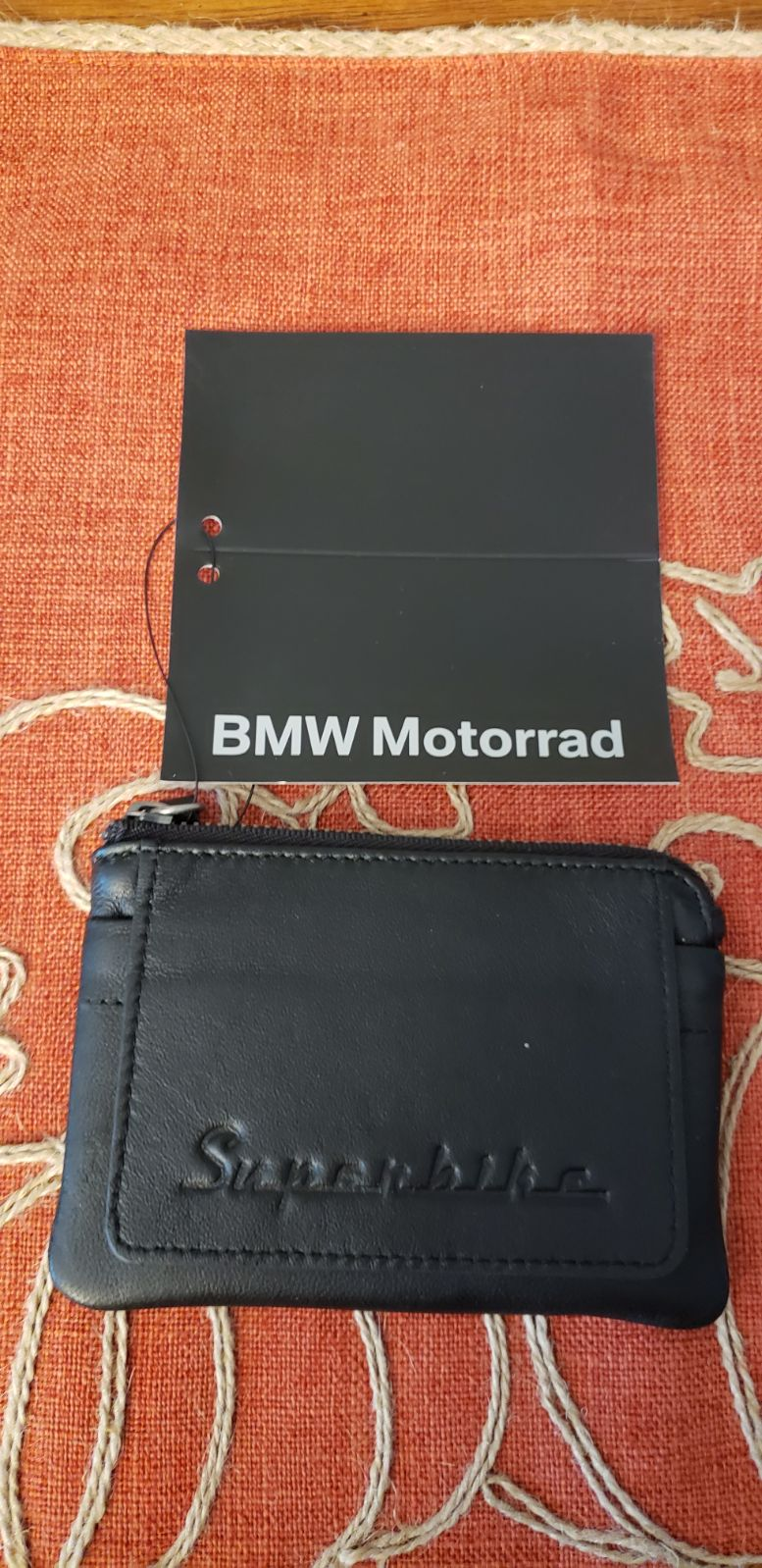 BMW Superbike Leather Key Coin Wallet