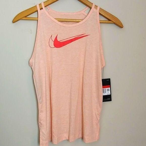 Nike Dry Fit Girl's Coral/Orange Tank L