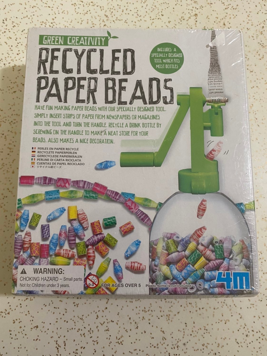 Recycled paper bead craft kit for kids