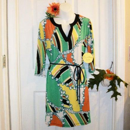 EMMA & MICHELLE Sz M Belted Dress NWT