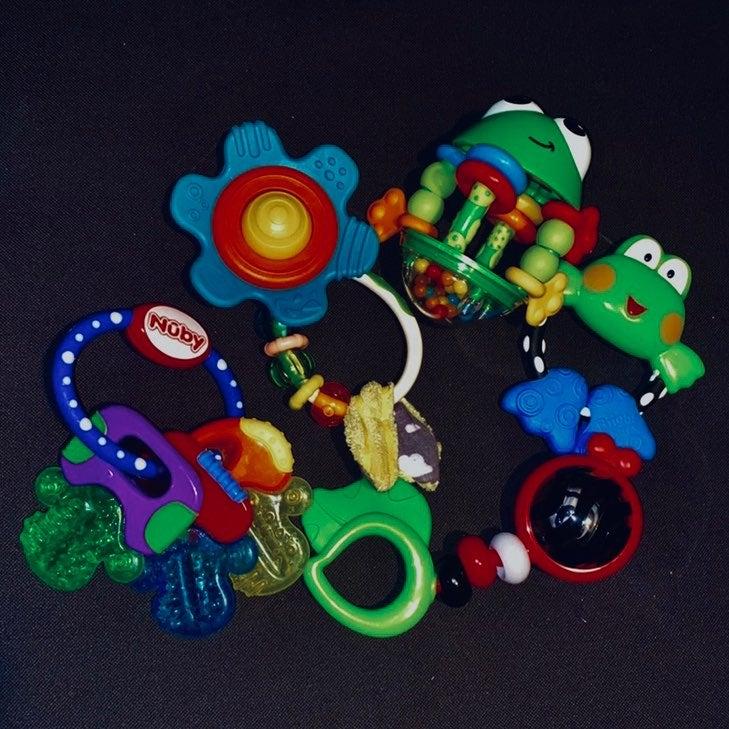 Bundle of 5 Baby Rattles/Toys/Teethers