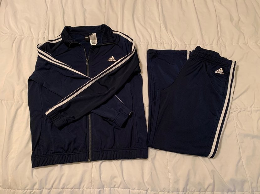 Adidas jacket and pants outfit