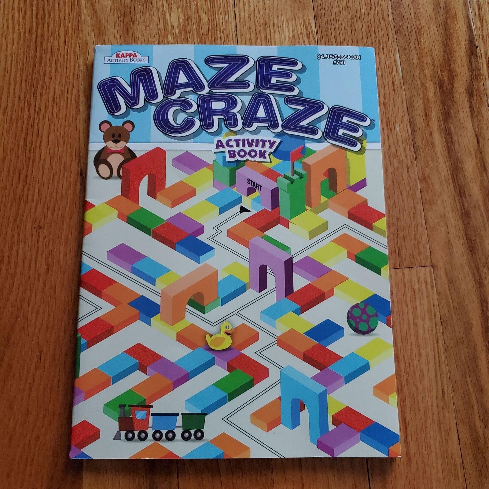 Adult Children MAZE CRAZE Coloring Book!