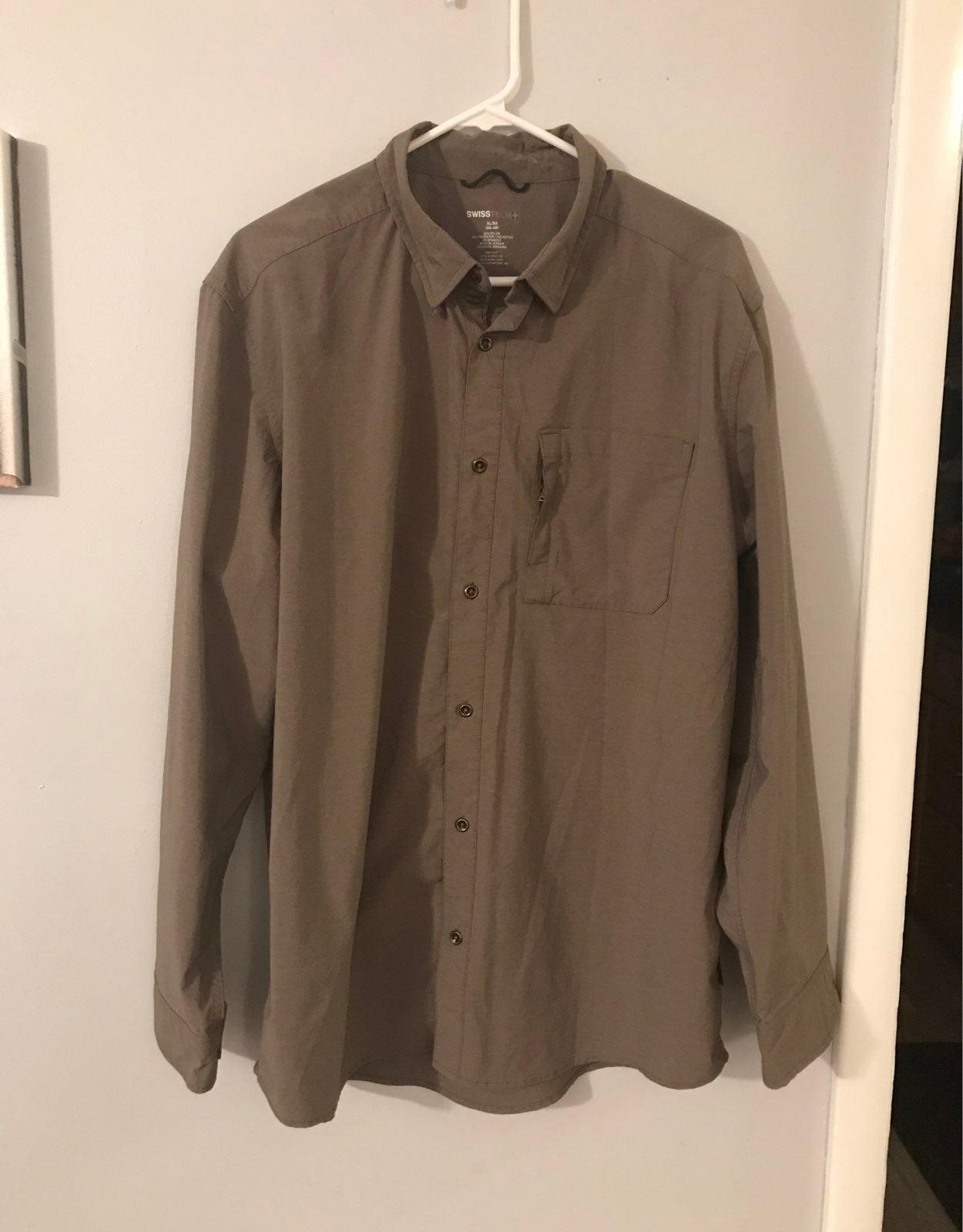 Swiss Tech Dress Casual Mens Shirt XL