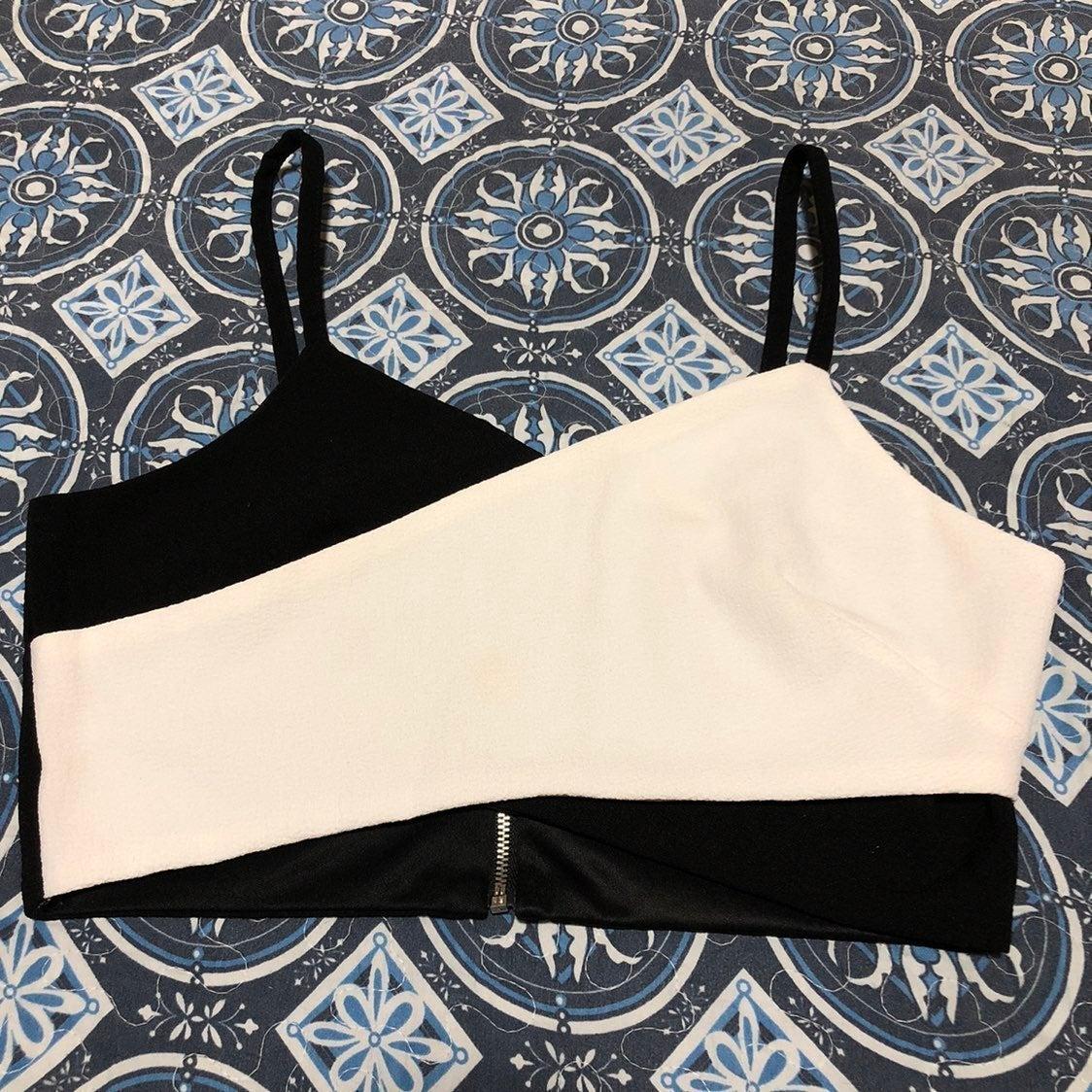 Black/White Crop Top