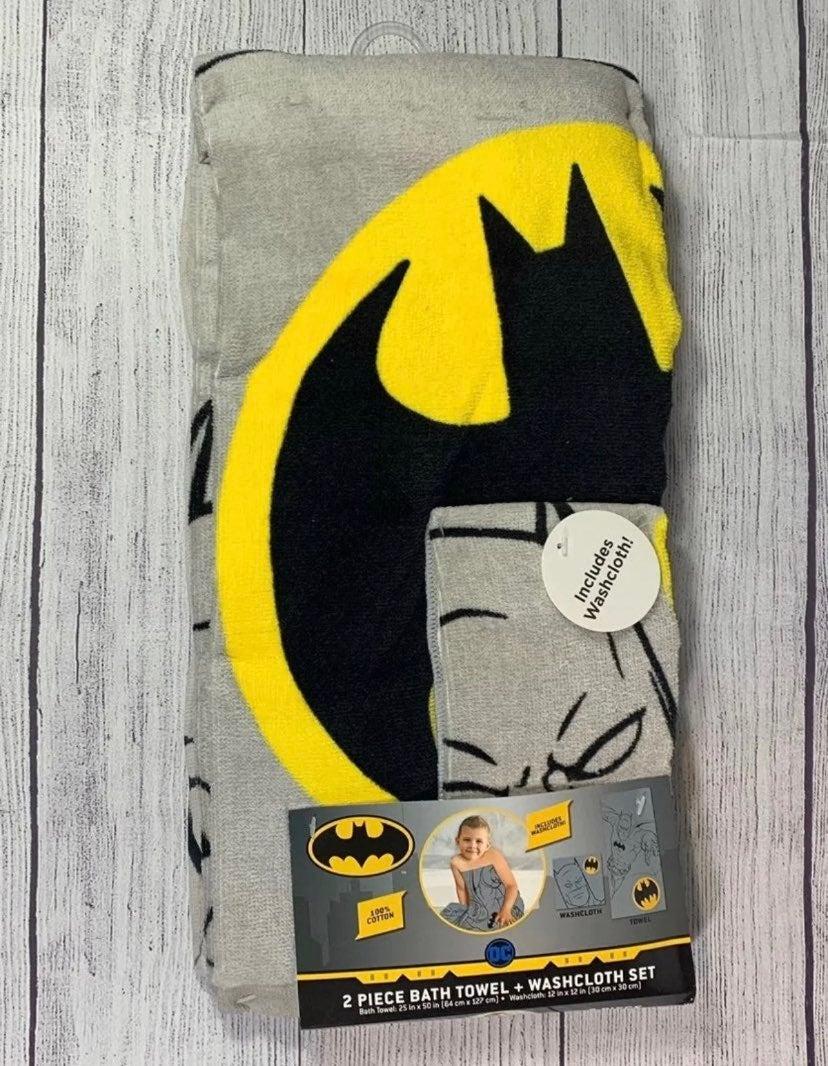 Kids Batman Towel and Washcloth Set