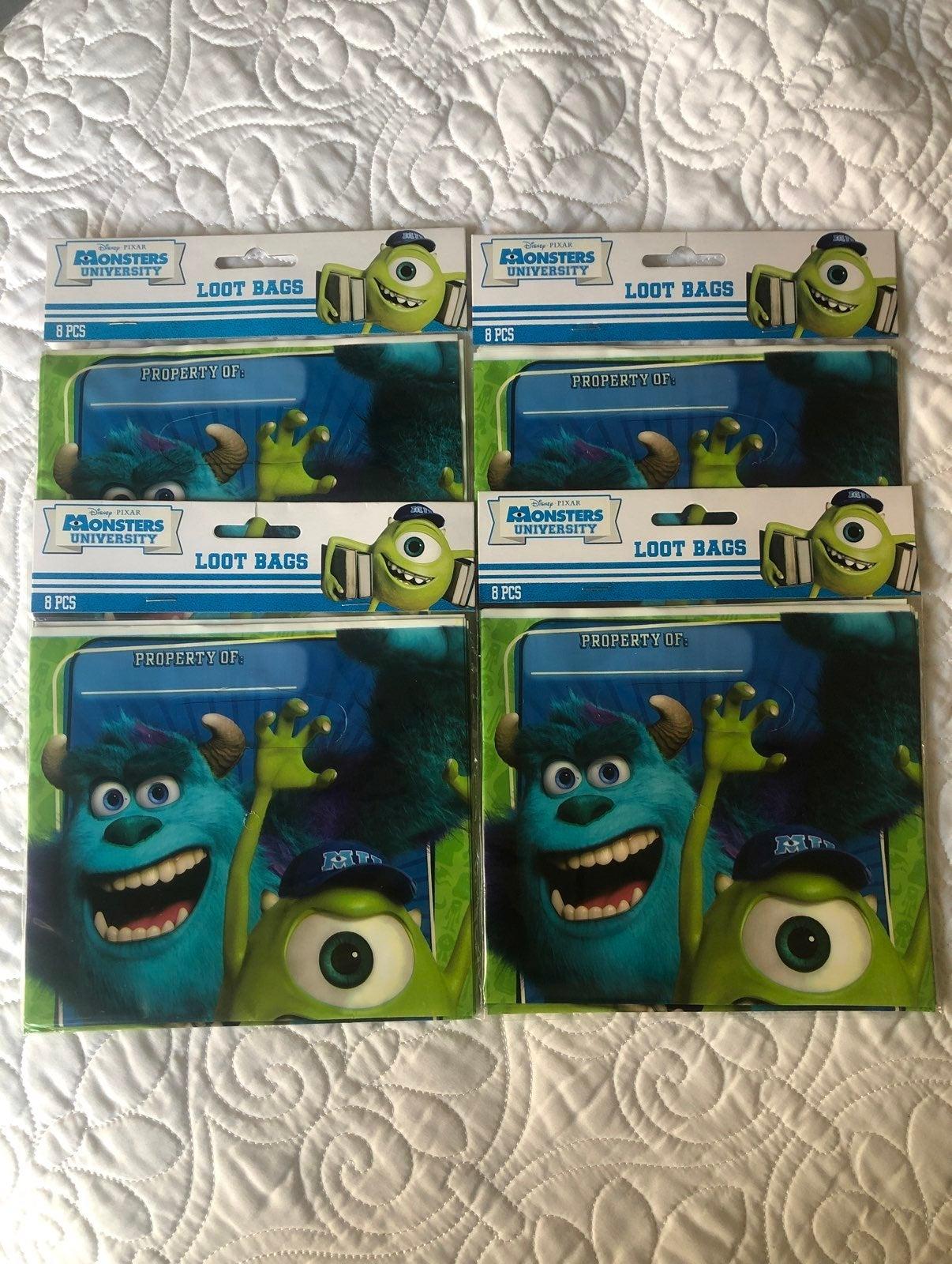 Monsters University Treat Loot Bags