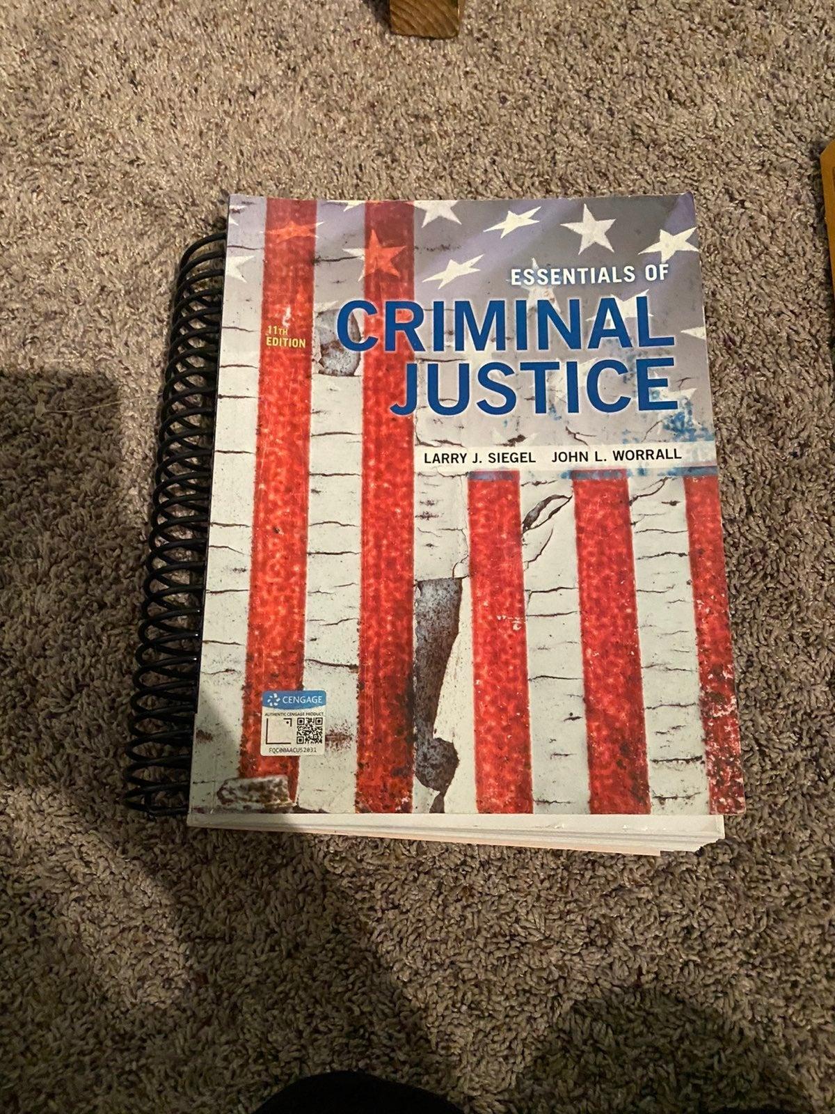 Essentials of criminal justice textbook