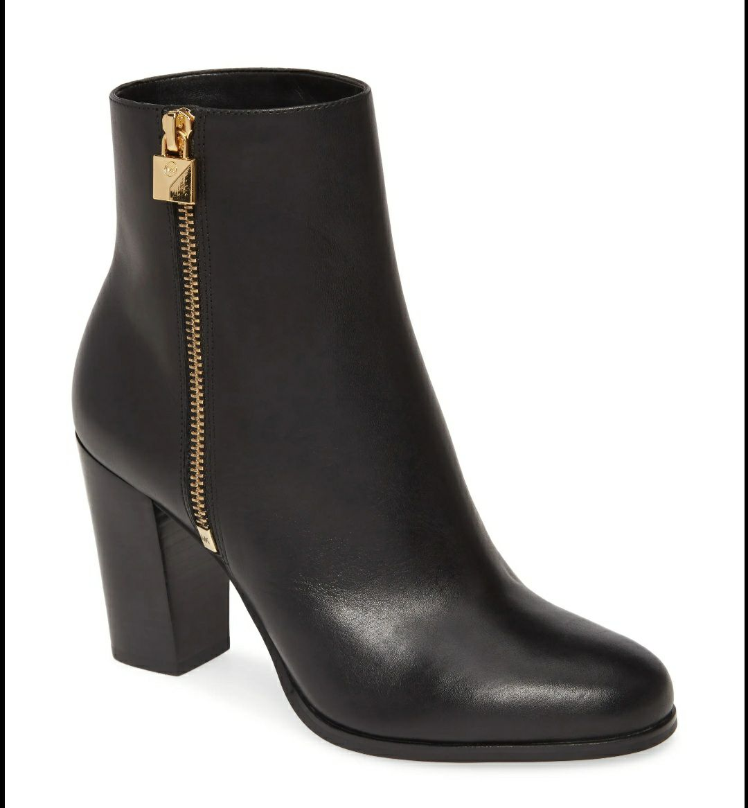 MICHAEL KORS LEATHER FRENCHIE BOOTIES