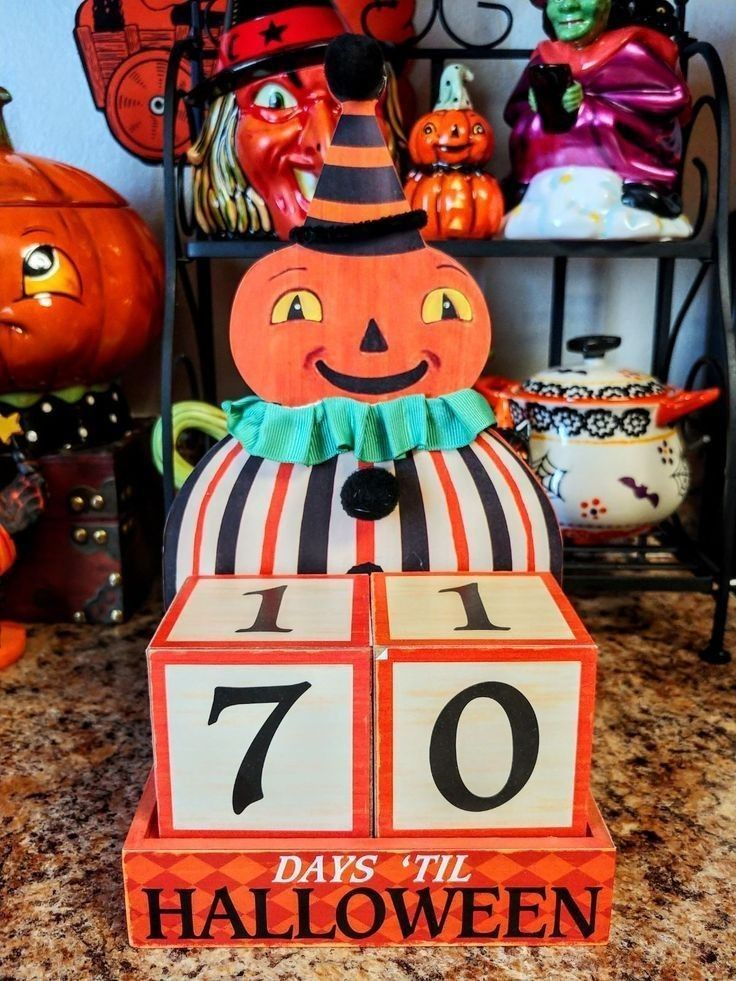 Countdown to Halloween Pumpkin Blocks