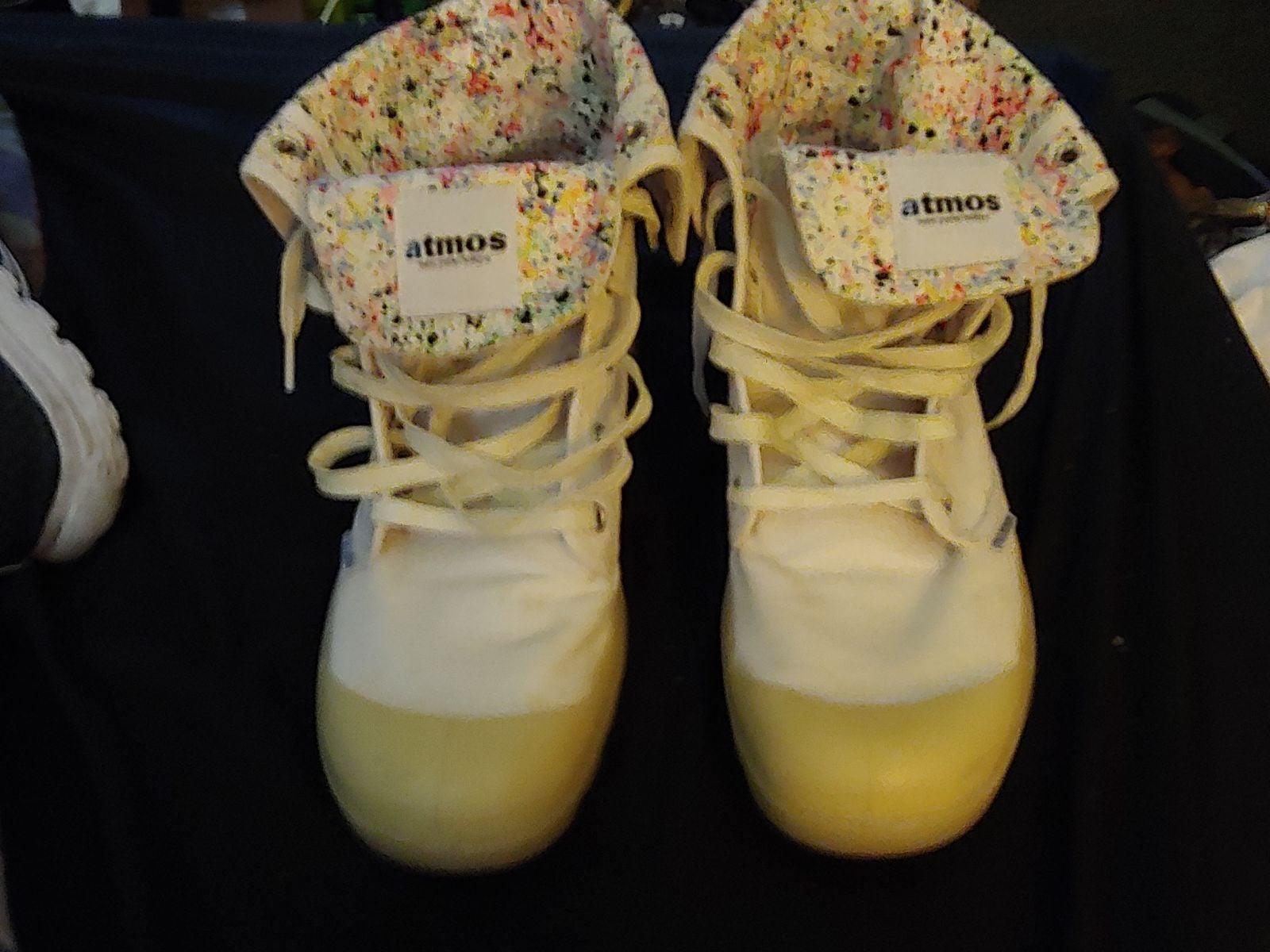 Palladium Atmos cuff boots bottoms glow
