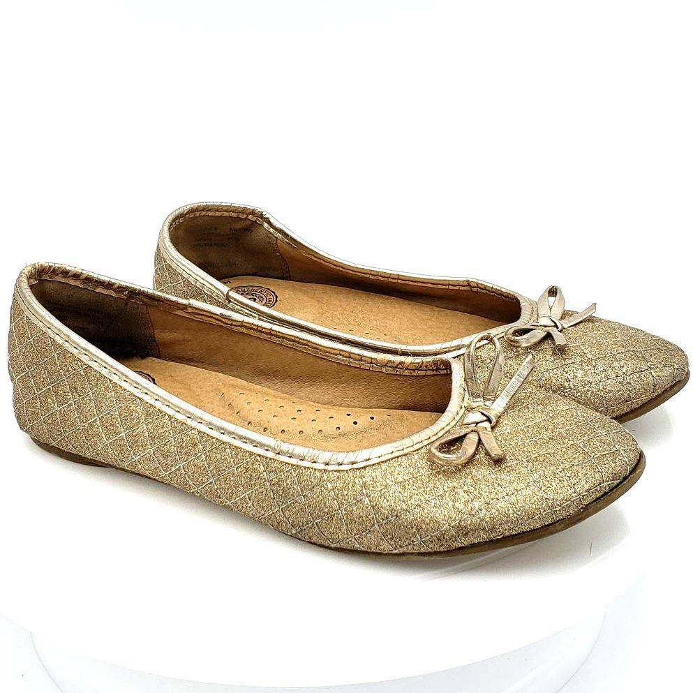 Authentic American Heritage 3 Gold Flats
