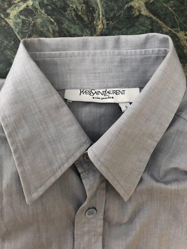 YvesSaintLaurent Gray Cotton Men's Shirt