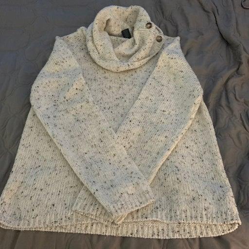 Sweater wirh scarf like neck