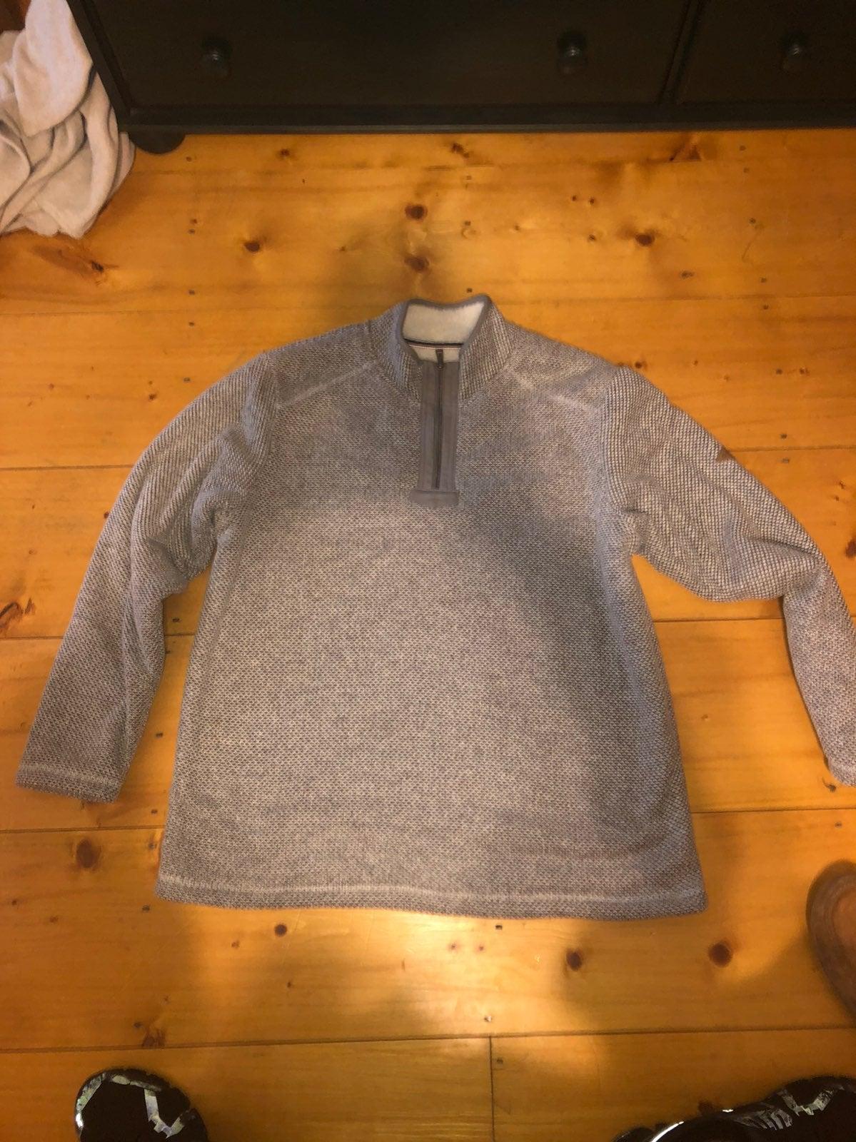 orvis half zip up fleece jacket
