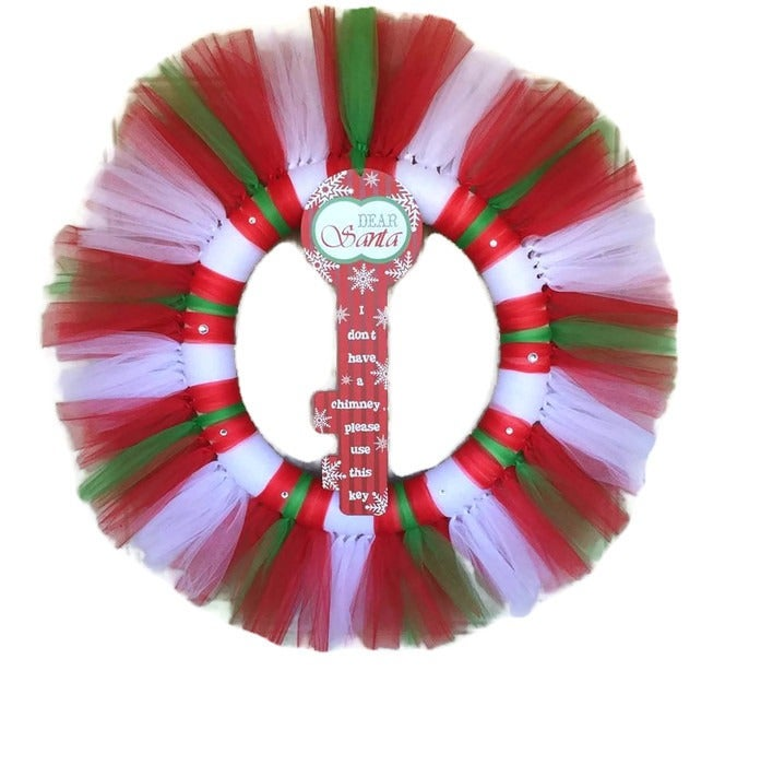 Key Santa Claus Christmas Wreath