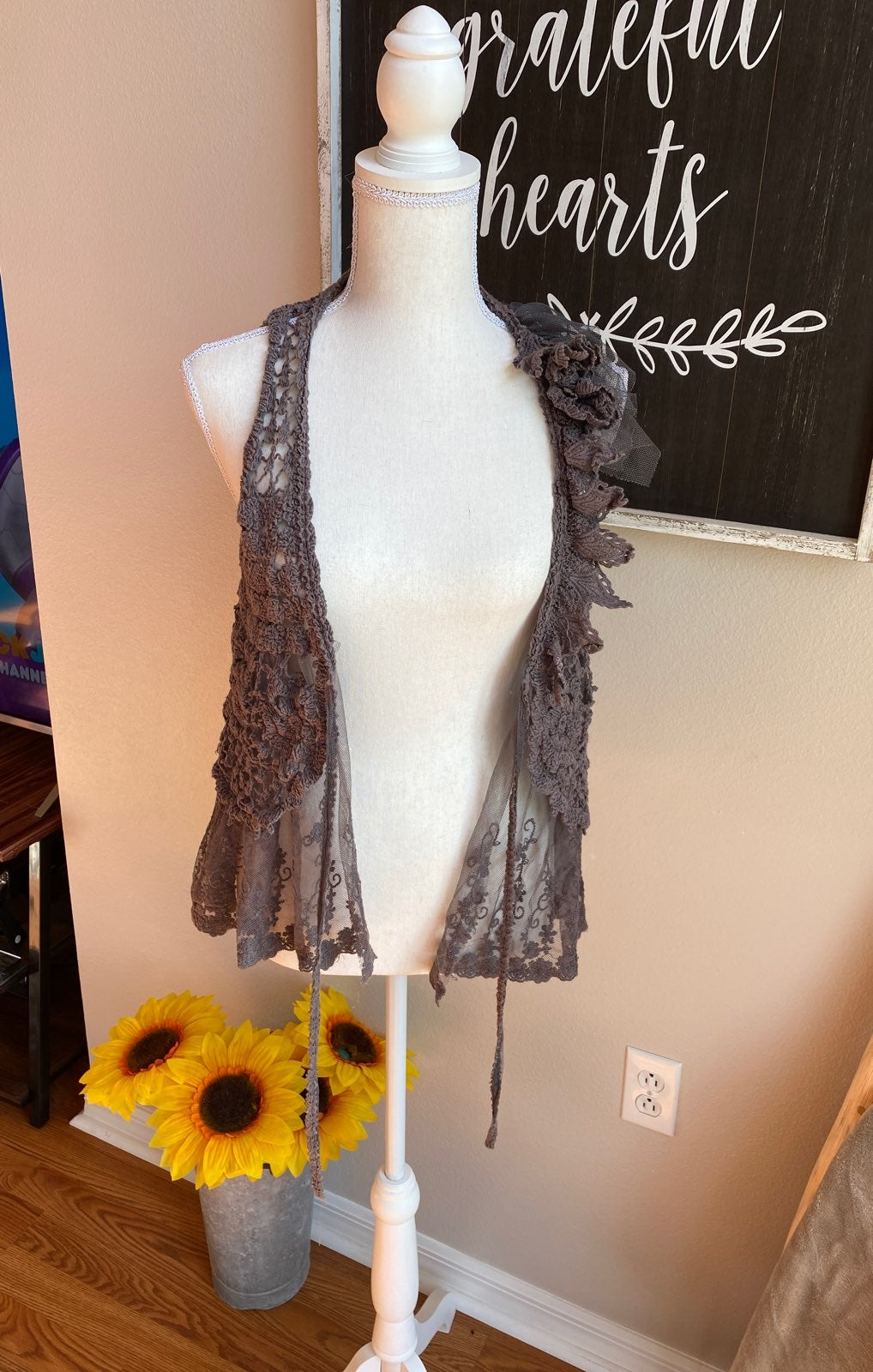 Boutique brand vest cover up