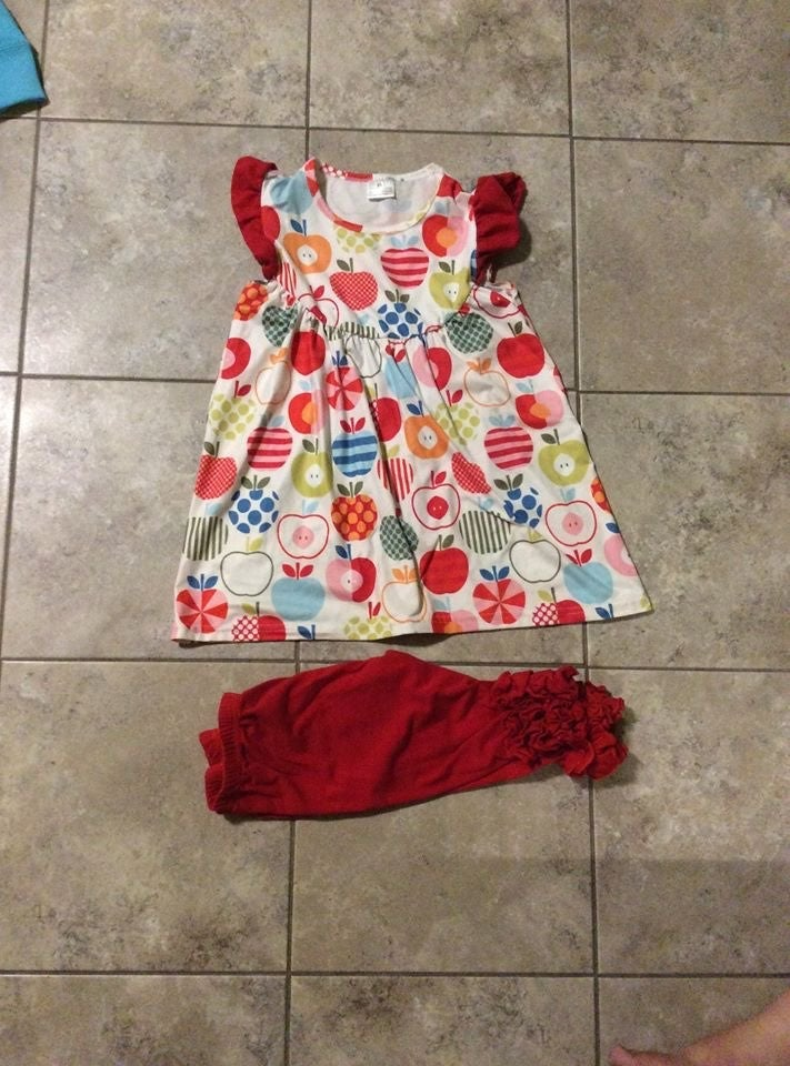 Back to school boutique girls outfit