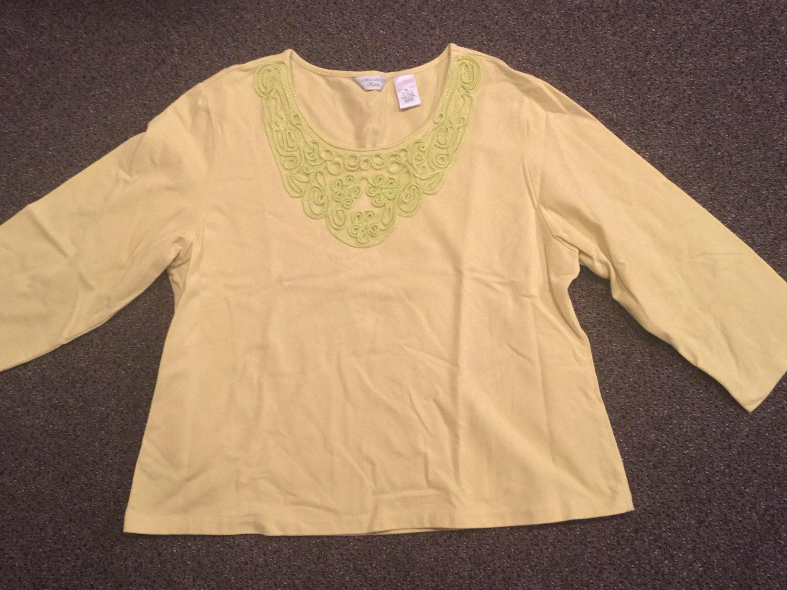 Laura Ashley Long Sleeve Shirt, Size PL