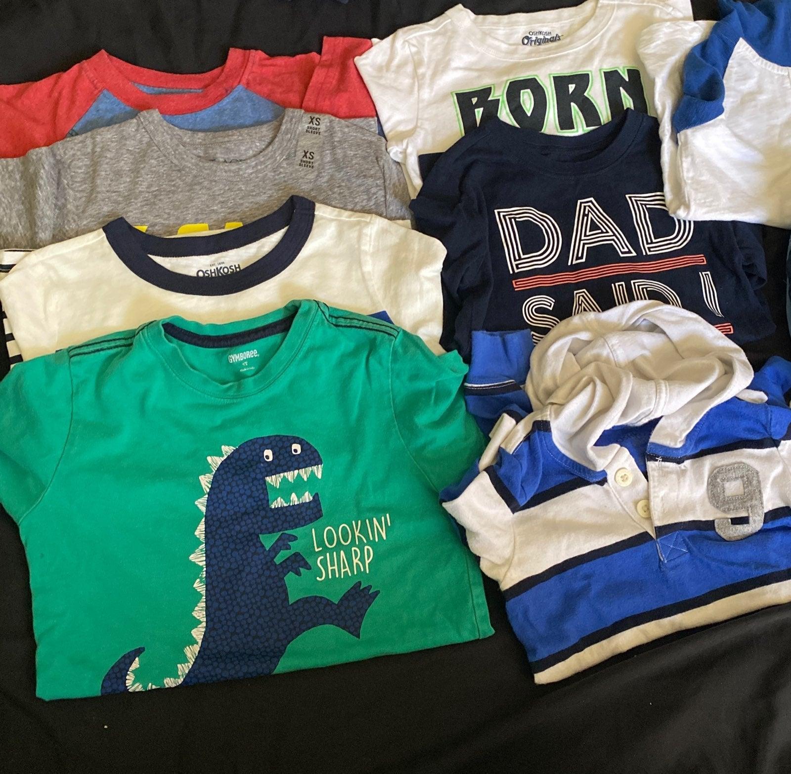 Bundle of boy shirts