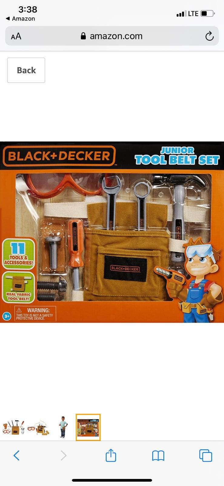BLack + Decker 11 Tools Belt Set