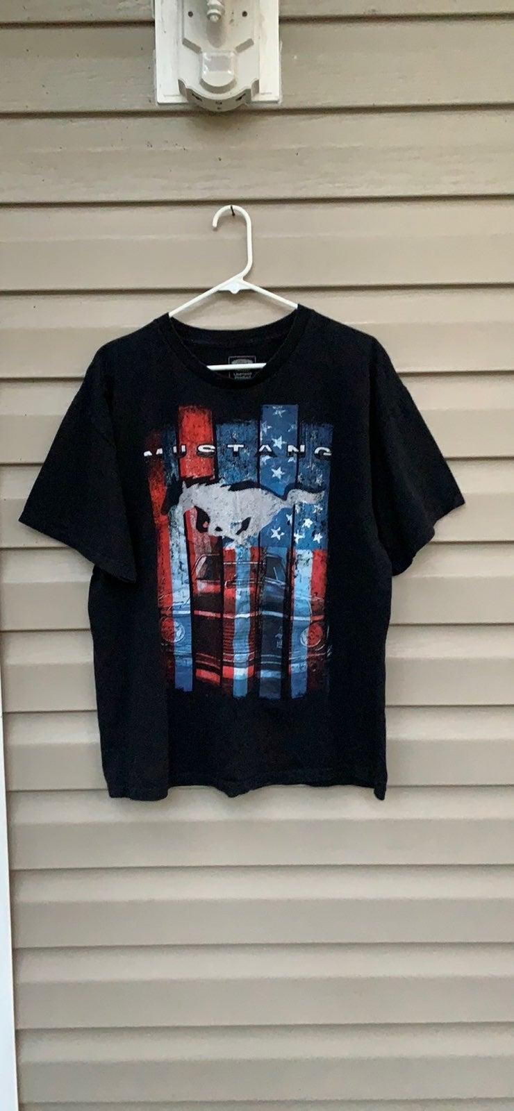 Ford mens black short sleeve tee shirt