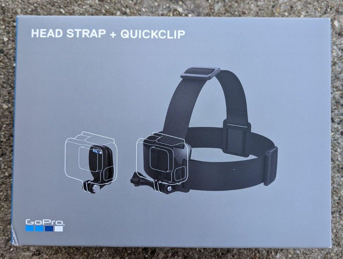 New in Box Go Pro Headstrap + quick clip