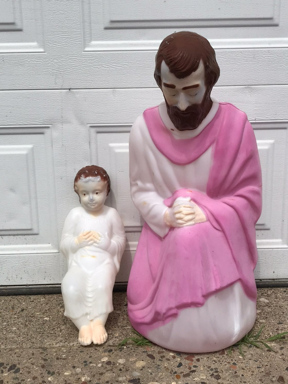 """Empire 28"""" Joseph & 18"""" Baby Jesus Molds"""