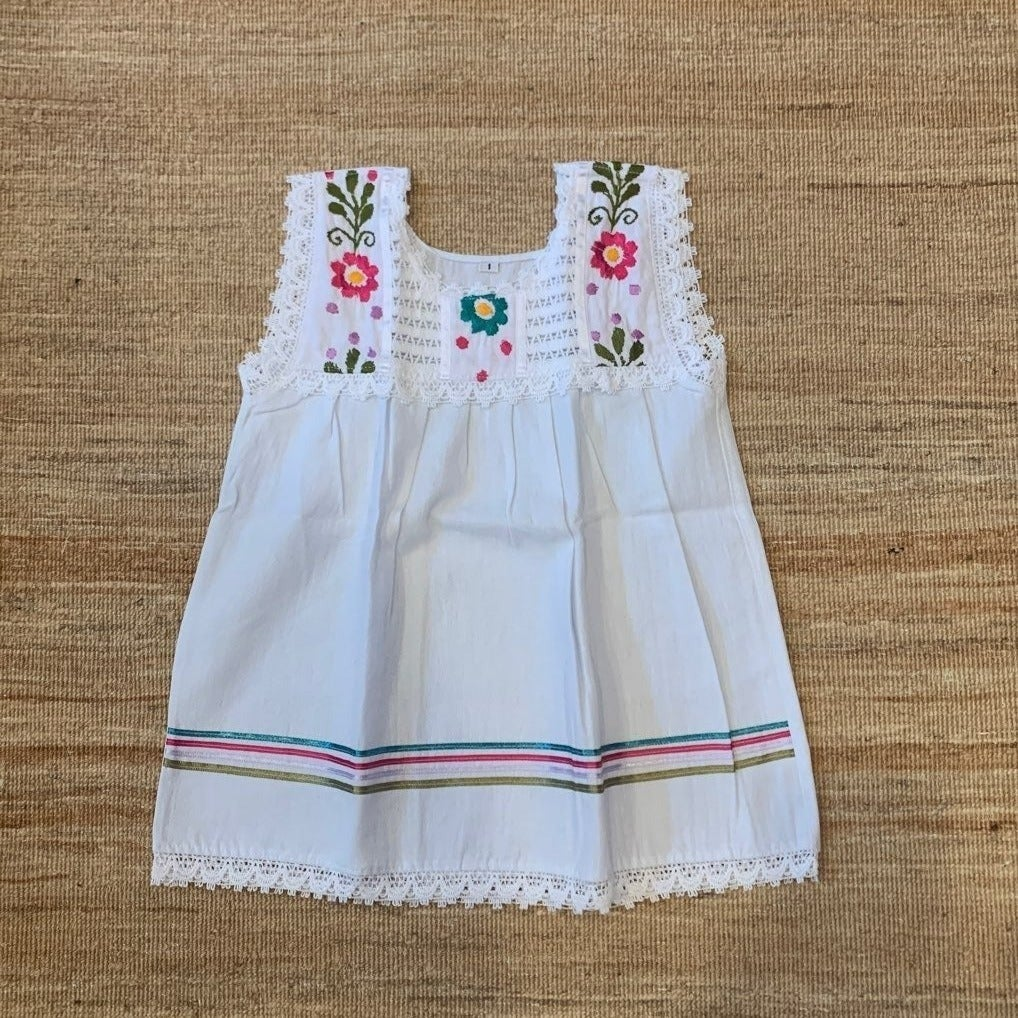 Girls Mexican Dress Hand Embroidered