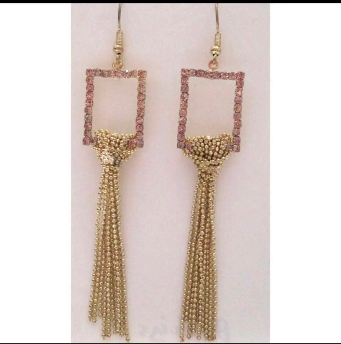 Gold Tassel Earrings - new