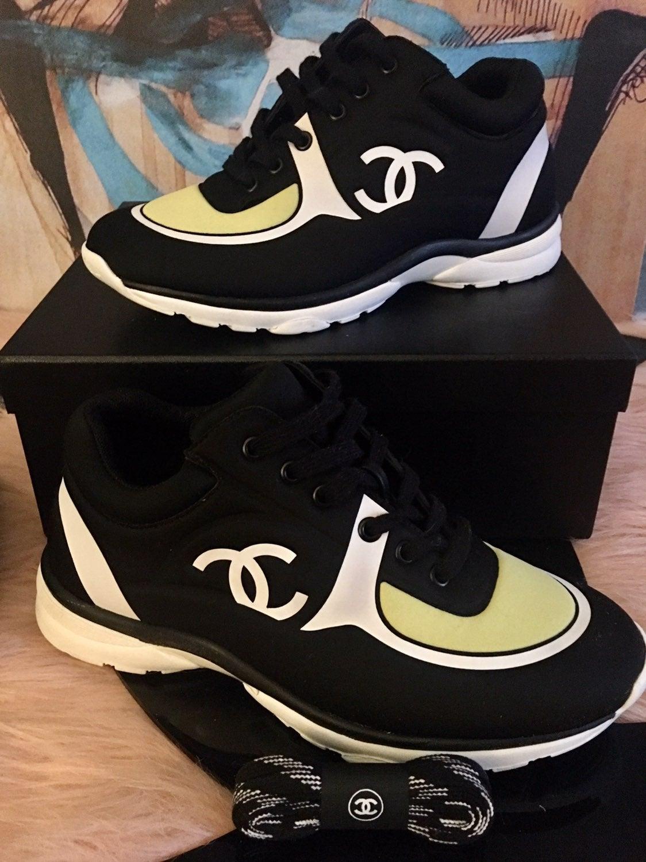 Rare Chanel CC Logo Lycra Sneaker