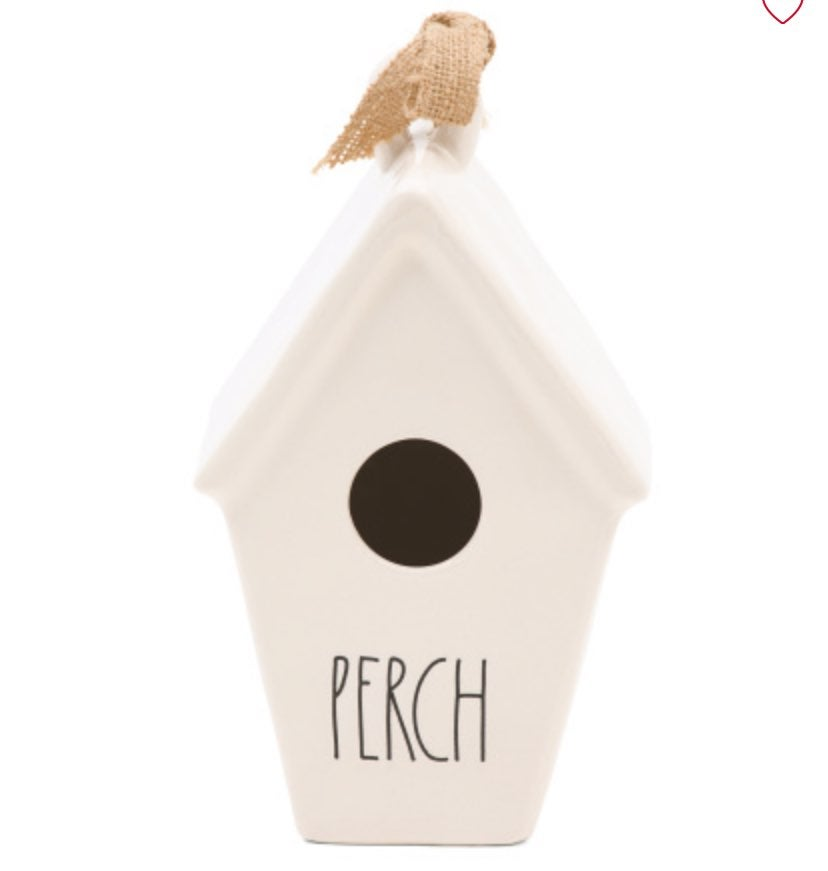 NEW Rae Dunn Tapered Perch Birdhouse