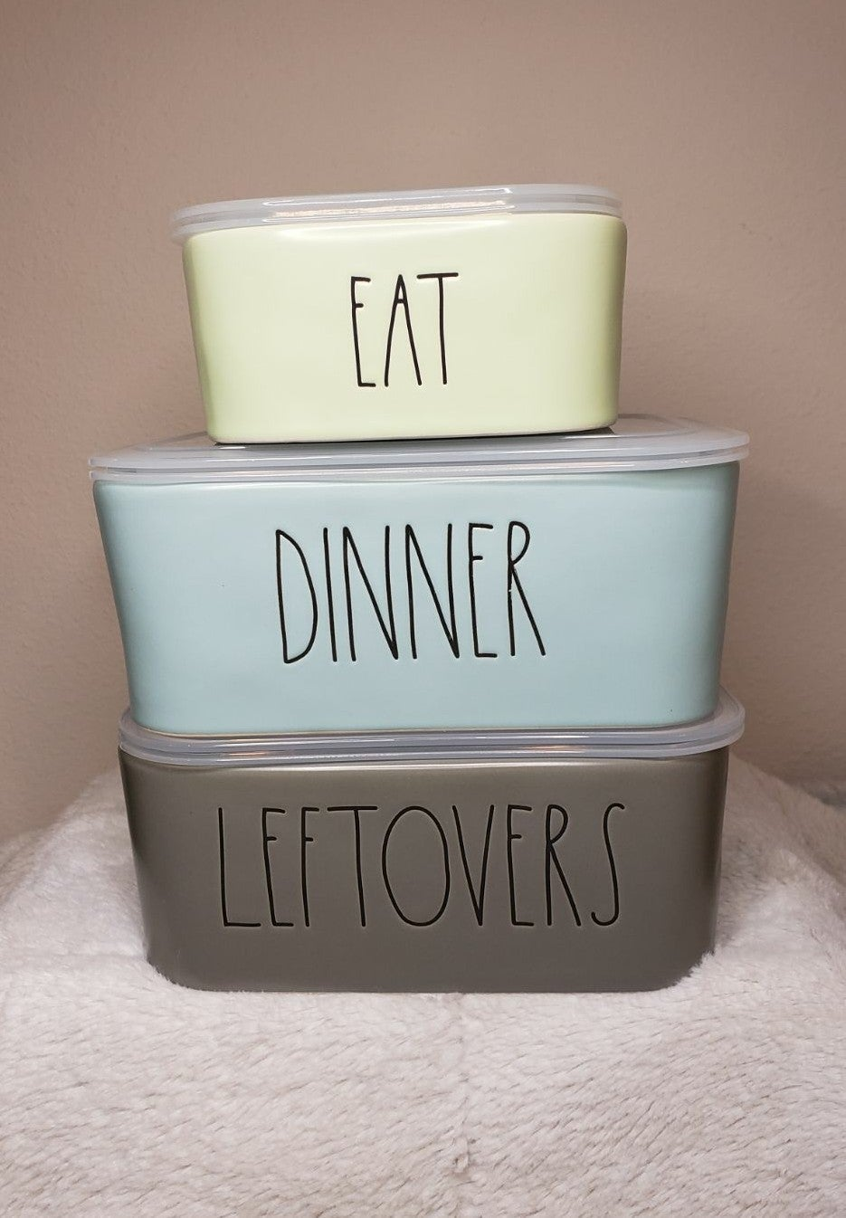 Rae Dunn 3pc Colorful Food Containers