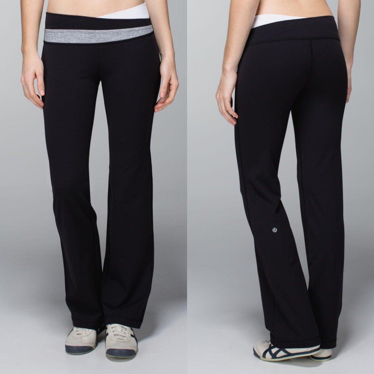 Lululemon Gray Astro Pants with Herringb