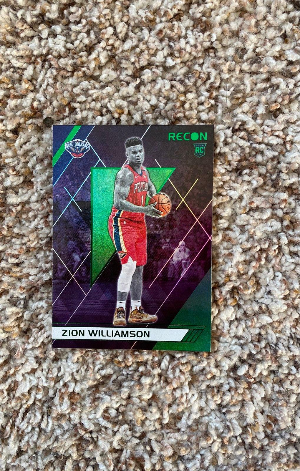 Zion williamson rookie card green ssp