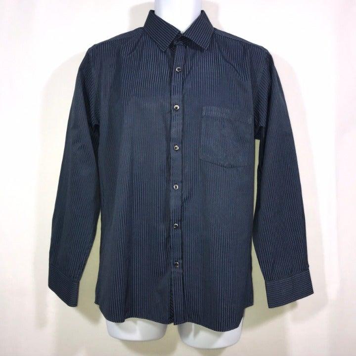 Richmond Slim Striped Dress Shirt L 16.5