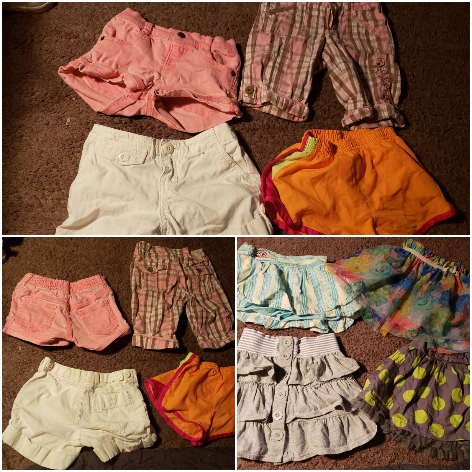 8 pairs of toddler bottoms 3t